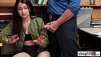 Hot young girl with big tits blowjob and doggys...