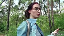 German Scout - Stranger Seduce Petite red hair teen Lia Louise to Fuck for Cash