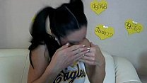 Cam Slut Cleo Dresses Up as a Cheerleader and Gets Off! Thumbnail