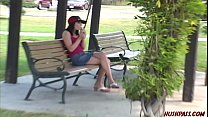 Hot Asian girl finds college coed at the park f...