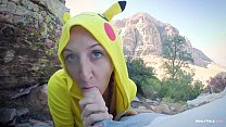 Innocent Pokemon Girl gets Deep Pussy Training Outdoors - Molly Pills - Young Amateur Nympho Loves Public Sex POV Thumbnail