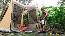 Ashley Adams gets banged in camping tent's Thumb