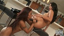 Two bi-curious Asian babes play while their men are away Thumbnail