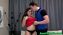 Assfucked teen beauty loves riding cock