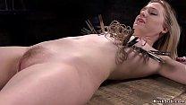 Slave Violet October with pale skin in metal de...