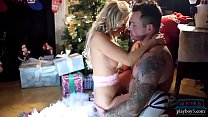 Czech blonde fucked during Christmas near the xmas_tree Thumbnail
