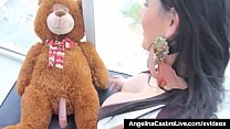 Cuban Brunette Angelia Castro shows off her massive breasts while discovering her Teddy has a Big Hard Cock! She Fucks her Teddy Bear! Hot! Full Video & AngelinaCastro Live @AngelinaCastroLive.com's Thumb