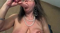 Watch Mature with big clit and big saggy tits preview