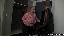 Watch Horny fatty seduces an young guy preview