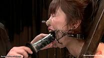 Gagged Japanese slut Marica Hase throat fucked ...