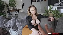 Big boobs mature stepmom helped a stepson because he was sad Thumbnail