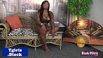 Watch Juggs ebony shemale tugs her cock preview