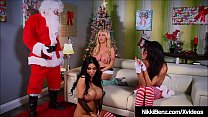 Festive Foursome as tasty trio Nikki Benz, Amy Andersson & Jessica Jaymes takes Santa Claus into their naughty but nice pussies!'s Thumb