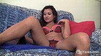 Gorgeous amateur babe from Yanks girl Stevi D. masturbating to porn Thumbnail