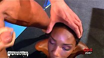 Watch Slim ebony beauty trained by white guys preview