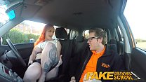 Fake Driving School Tattooed_redhead craves instructors big cock and cum Thumbnail