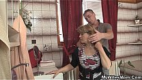 Watch Girlfriends hot mom inlaw takes it from behind preview