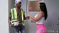 Busty big ass Latina rides BBC monster