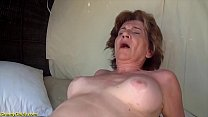 big boob skinny 76 years old stepmom gets extre...