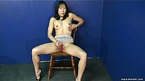 Fantastic Asian babe rubbing on her wet pussy a...