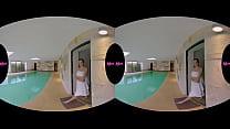 Busty teen swim before Virtual Sex