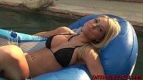 Hot blonde Shawna Lenee in her first porn scene...