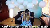 Very hot nerdy teasing live on webcam