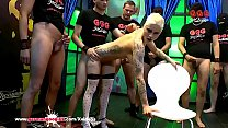 Watch DP and Cum for_Tattooed busty Babe Mila Milan - German Goo Girls preview