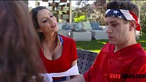 Watch Risky outdoor family threesome preview