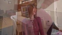 Watch GERMAN SCOUT - Schlanke Mia bei Strassen Casting ohne Kondom fur Geld gefickt preview
