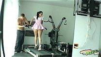 Haciendo gimnasia - Nacho Vidal fuck's brunette at gym's Thumb