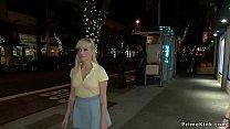 Busty mistress public d. hot blonde with pantie...