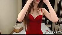 Hot webcam model is showing off her sexy panties