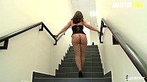 AMATEUR EURO - Big Ass Brunette Has Interracial...