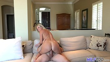 Hot blonde mom gets big cock and cum covered face Thumbnail