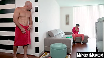 Cute Latina maid fucks for extra cash