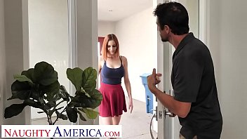 Naughty America - Hot readhead gets fucked at her appointment