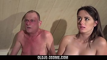 Grampa Loves 3sum With 2 of the Hottest Teens