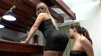 lesbian licking a big brazilian ass