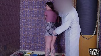 Hung upside down and facefucked to make smoothies in her mouth (felicity feline): humiliation Thumbnail