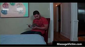 Oiled gay guy gets super hot massage