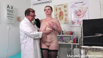 Big busty mature woman Samantha Si deeply examined by freaky doctor