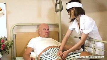 Nurse Takes Old Man's b. Pressure