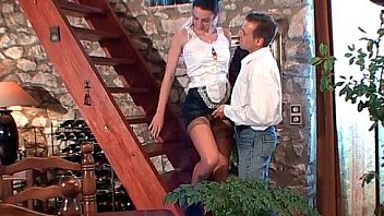 French maid gets her ass pounded with cock fruits and vegetables