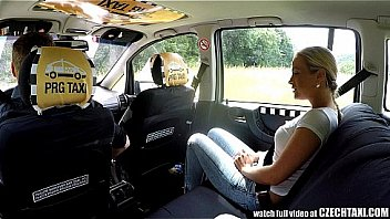 Czech Blonde Rides Taxi Driver in the Backseat Thumbnail