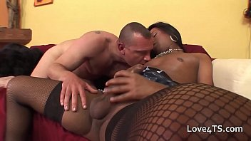 Watch White man gets a fucking_from a black transexual with large_cock preview