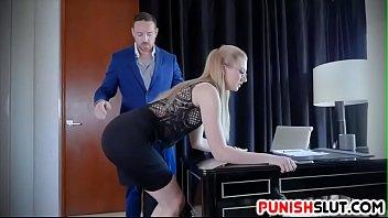 Boss Give Discipline To Obedient Slut Secretary