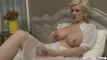 Busty blonde is on the bed masturbating and after that.She falls a. and suddenly,redhead babe goes to her and they start kissing each other.Next is redhead rubs blondes pussy before she licks it and in return she fingers redheads wet pussy.