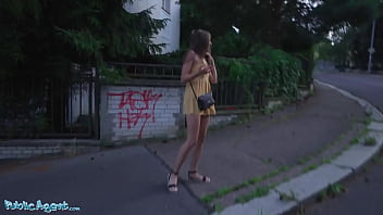 Public Agent Robbed Babe Fucks A Stranger for Money