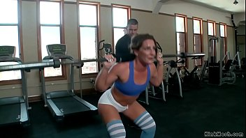 Master James Mogul whips hot ass brunette slave trainee Savannah Fox at the gym then makes gimp slave Tommy Pistol anal fuck her while she is squirting